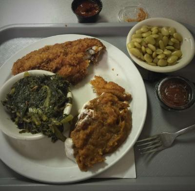 Bluff Parks Dinner Meat and Three Chicken Dinner