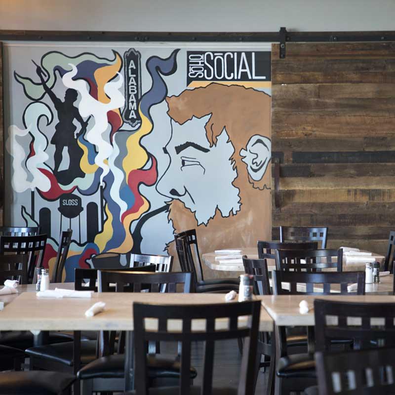 SoHo Social Restaurant Mural