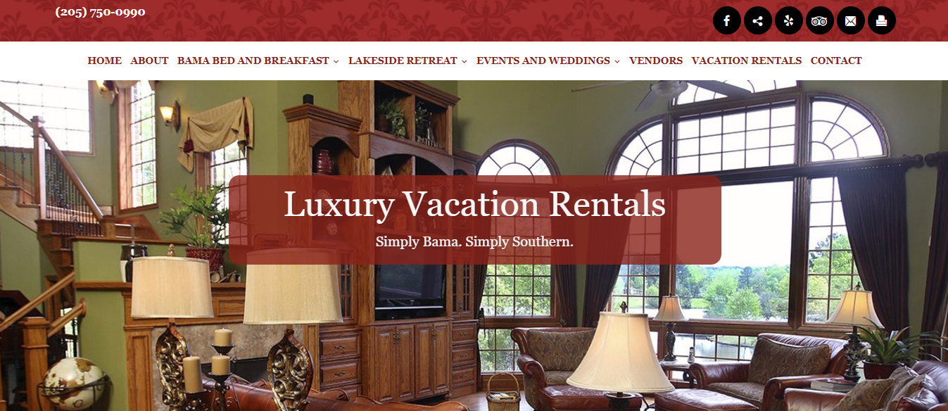 Bama Bed and Breakfast Website