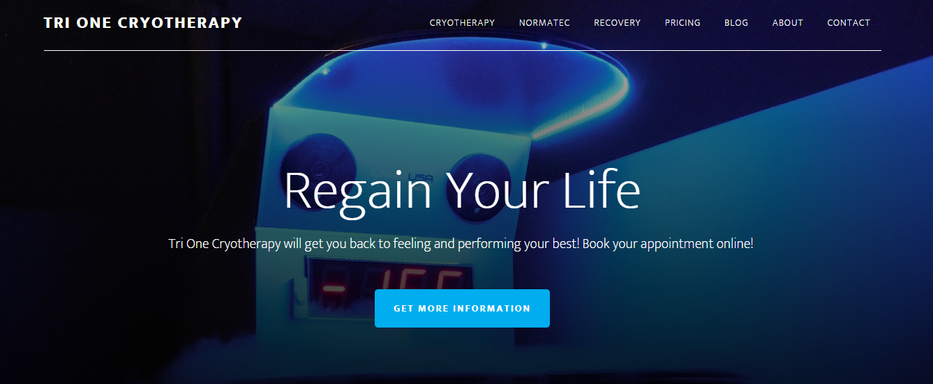 Tri One Cryotherapy Website