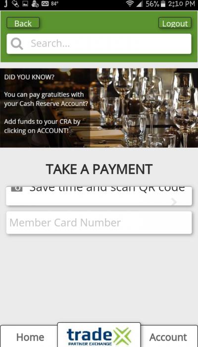 QuikTrade APP Take Payment Scan QR